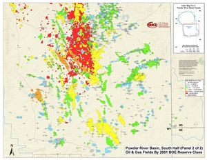 Powder River Basin, Southern Part By 2001 BOE Reserve Class