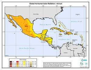 Caribbean - Annual Global Horizontal Solar Radiation
