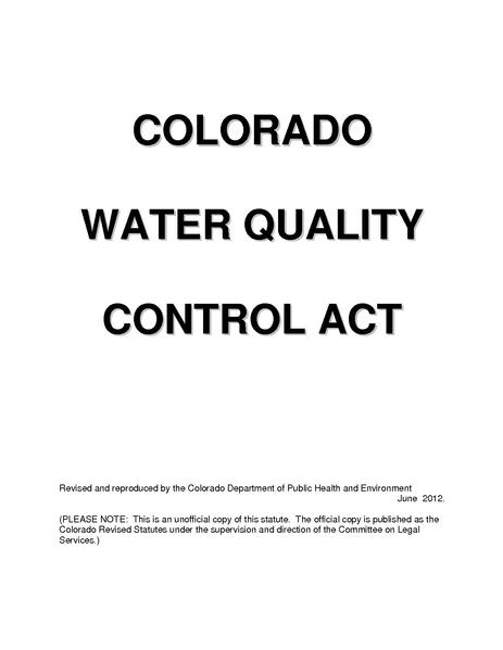 File:Colorado Water Quality Control Act.pdf