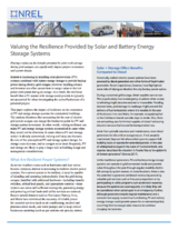 Valuing the Resilience Provided by Solar and Battery Energy Storage Systems