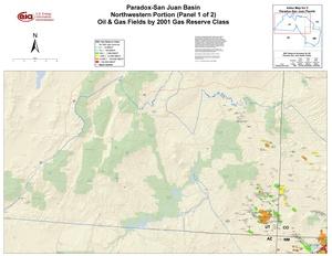 Paradox-San Juan Basin, Northwest Part By 2001 Gas Reserve Class