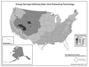 Energy Savings Utilizing Solar Vent Preheating Technology