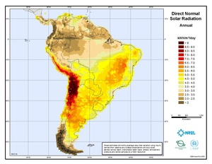 South America Direct Normal Solar Radiation (PDF)