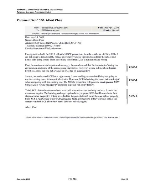 File:Tehachapi Renewable FEIS Volume V Appendix 5 FC2 Comments Received from Individuals.pdf
