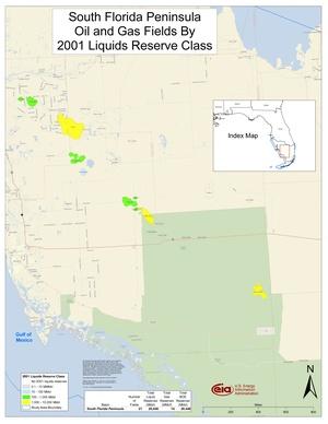 South Florida Peninsula By 2001 Liquids Reserve Class