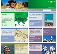 International Centre for Integrated Mountain Development (ICIMOD) Screenshot