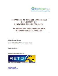 Strategies to Finance Large-Scale Deployment of Renewable Energy Projects: An Economic Development and Infrastructure Approach Screenshot