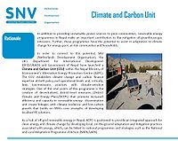 SNV-Climate and Carbon Unit Screenshot