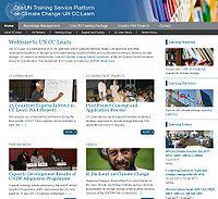 One UN Training Service Platform for Climate Change (UN CC:LEARN) Screenshot